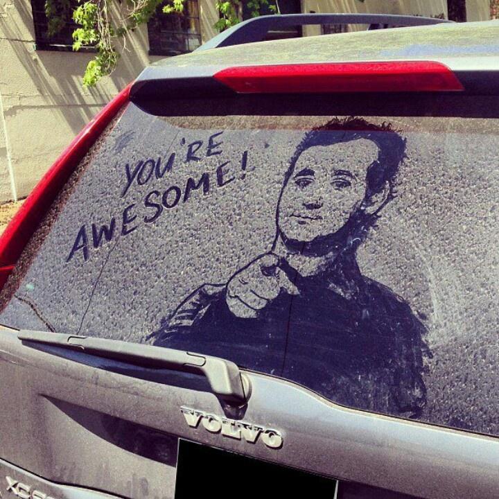 Dirty car art