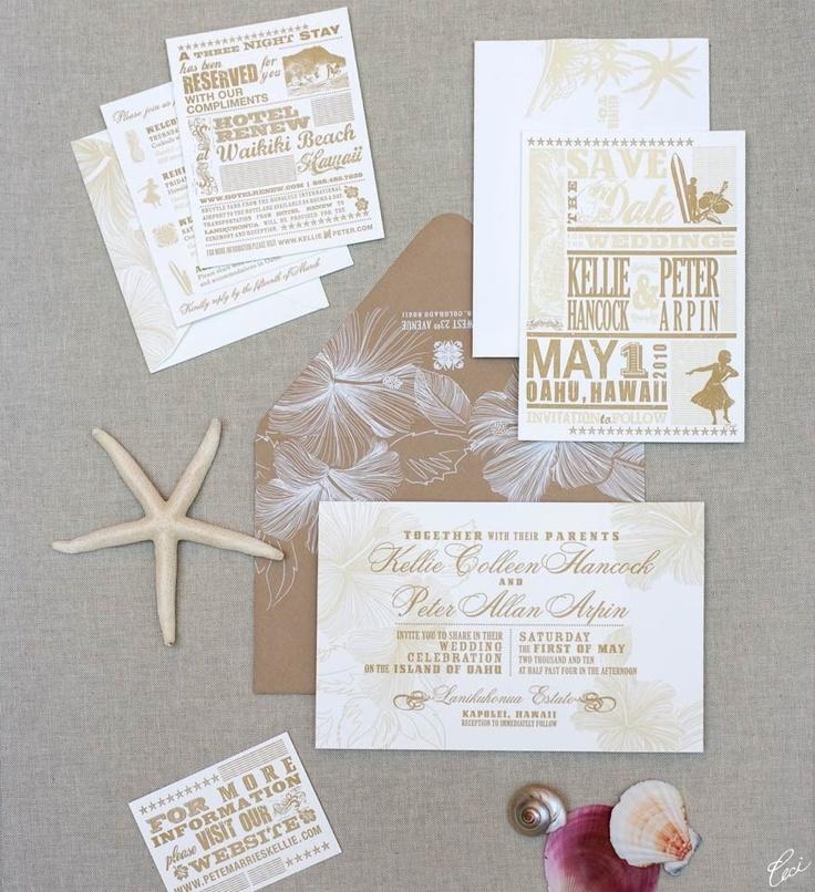 Wedding Invitations Hawaii: 1000+ Images About Hawaiian Wedding Invitations On