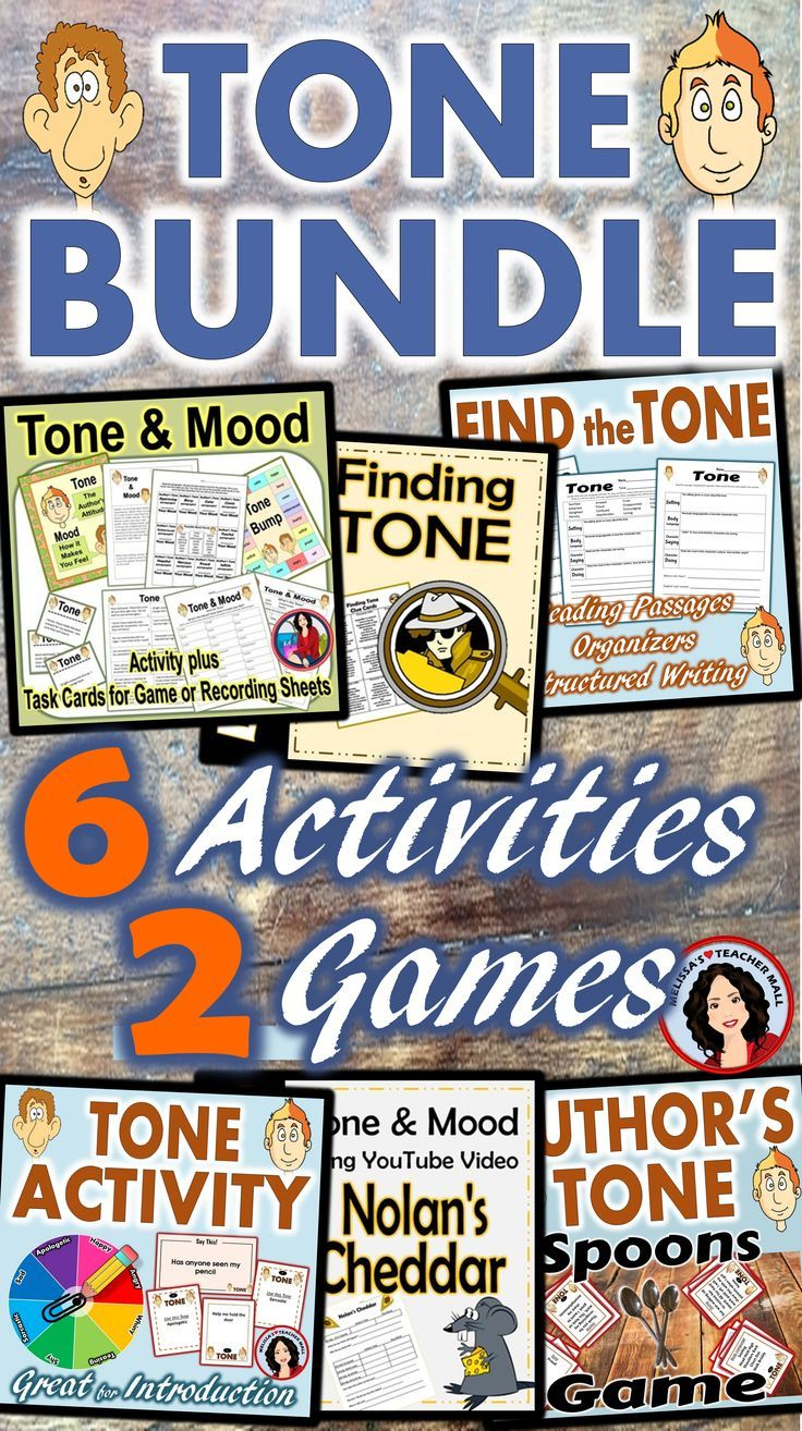 Tone, Mood Activity plus 30 task cards. Use the Task Cards for a Bump Game or with the recording sheets provided. Tone, Mood Activity can be used for whole class, small groups, or independent work during guided reading. Students read a paragraph and choose the tone on the recording sheet, then record how the passage made them feel. Use this Tone and Mood activity to introduce the concept or as practice finding the tone and determining the mood.