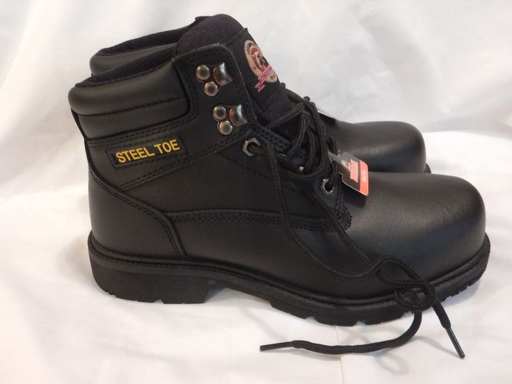 Steal Toe Brahma Oil & Slip Resistant Size 7 1/2 Black Safety Work Boots NEW #BRAHMA #WorkSafety