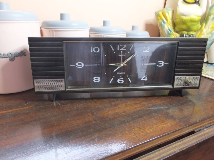 Vintage retro musical clock. Selling on All Things Fine and Fanciful on FB.