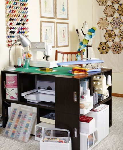 Peek Into Stylish And Functional Sewing Rooms And Work Spaces! Steal  Storage Ideas For Your Own Room Or Be Inspired To Carve Out Room In Your  Home For An ...