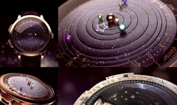 Midnight Planétarium, An Astronomical Watch That Features Our Solar System