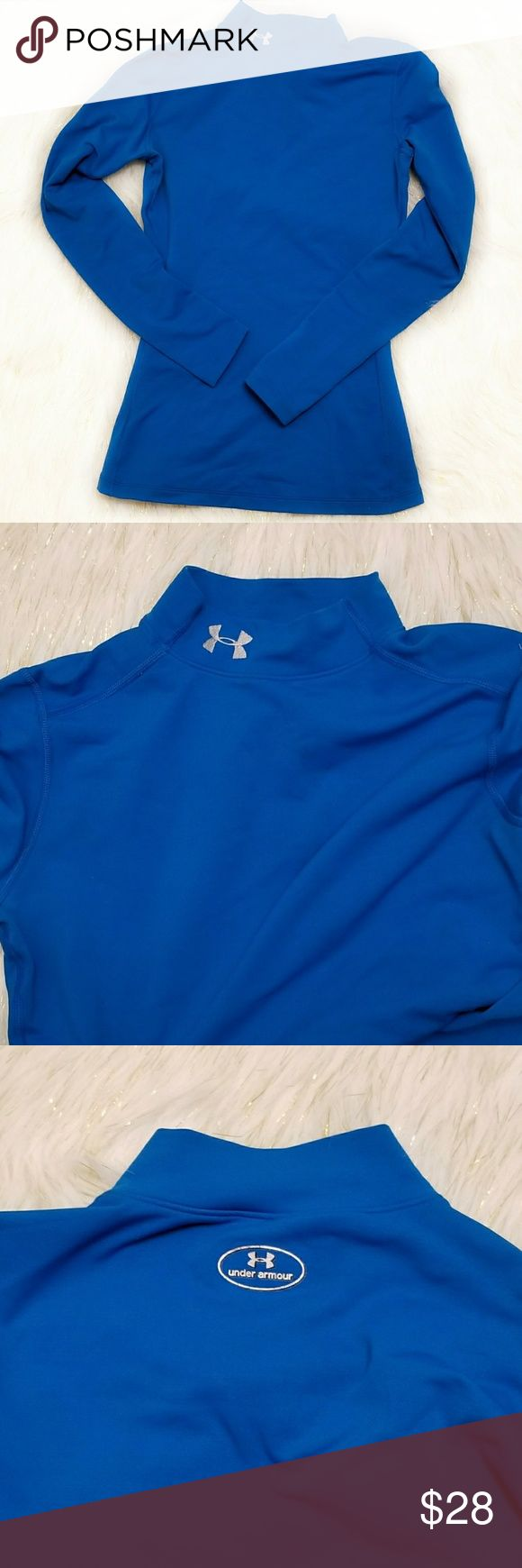 Under Armour Blue Cold weather Gear NWOT Blue Cold weather Gear under armour long sleeve, NWOT. Never worn. Clothes were made to be loved! Open to offers! Pet free. Smoke free. No trades. Bundle 3 or more for 10% off! Under Armour Tops Tees - Long Sleeve