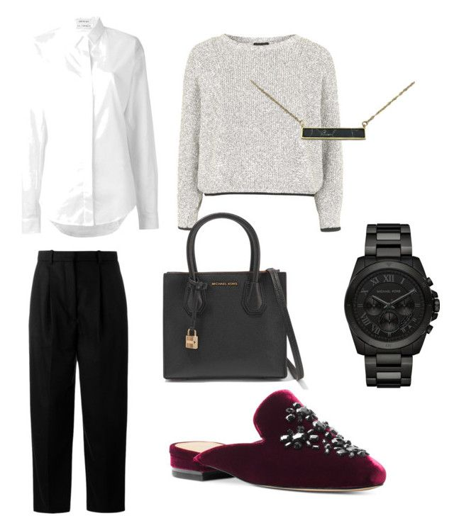 """""""Jet Set"""" by desmaatoe on Polyvore featuring Acne Studios, Michael Kors, Anthony Vaccarello, Topshop, Zara Taylor and MICHAEL Michael Kors"""