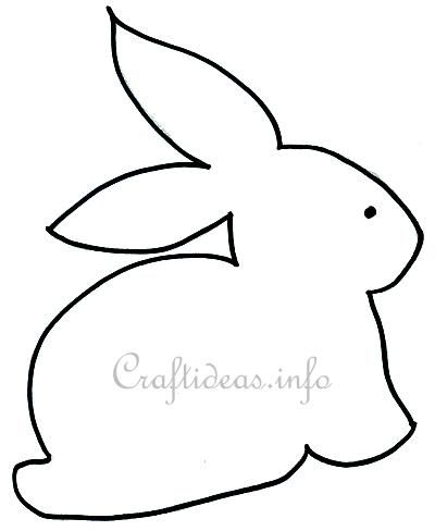 "Easter Crafts - Free Craft Pattern - ""Sitting Bunny"""