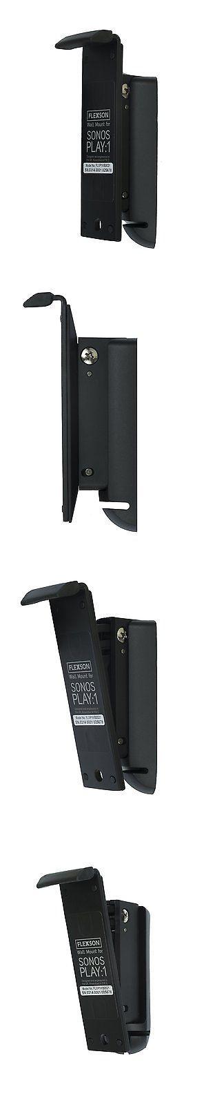Speaker Mounts and Stands: Flexson Single Steel Wall Mount Bracket For Sonos Play:1 Speaker - Black -> BUY IT NOW ONLY: $34.99 on eBay!