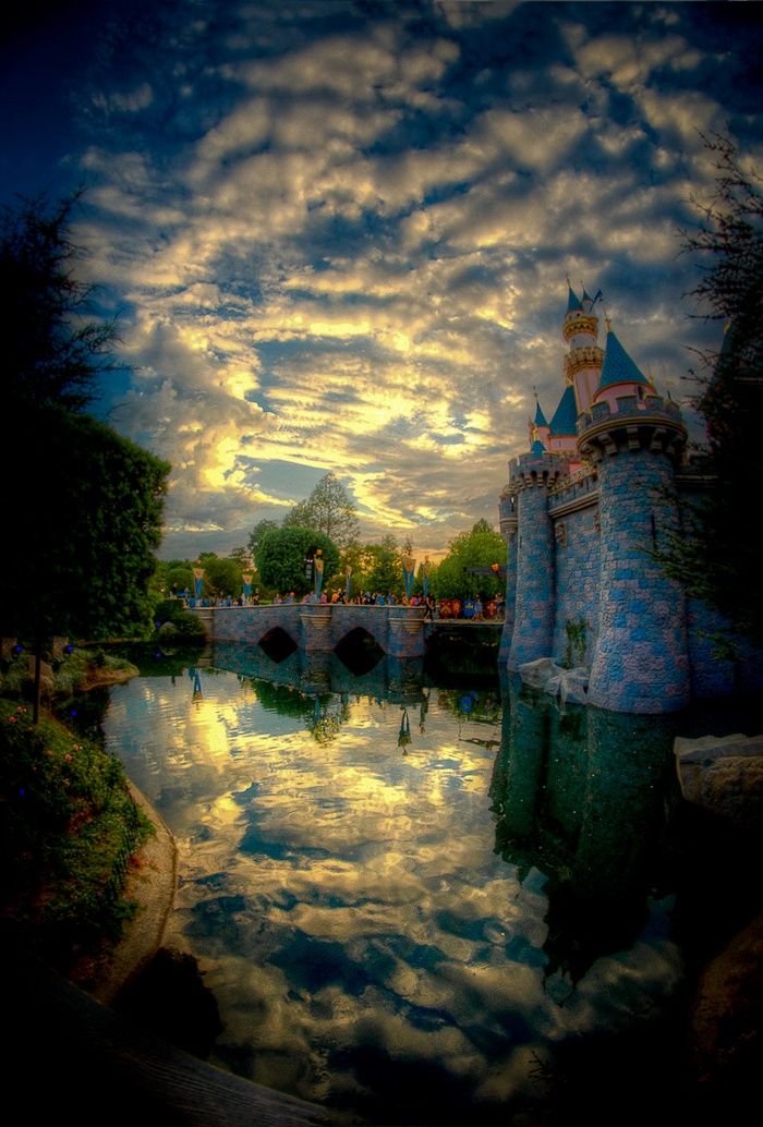 Stunning Disneyland Castle with Sky
