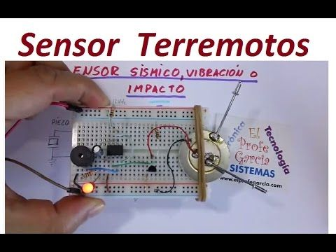 Sensor Sísmico, vibración o Impacto (Fácil de hacer) - YouTube