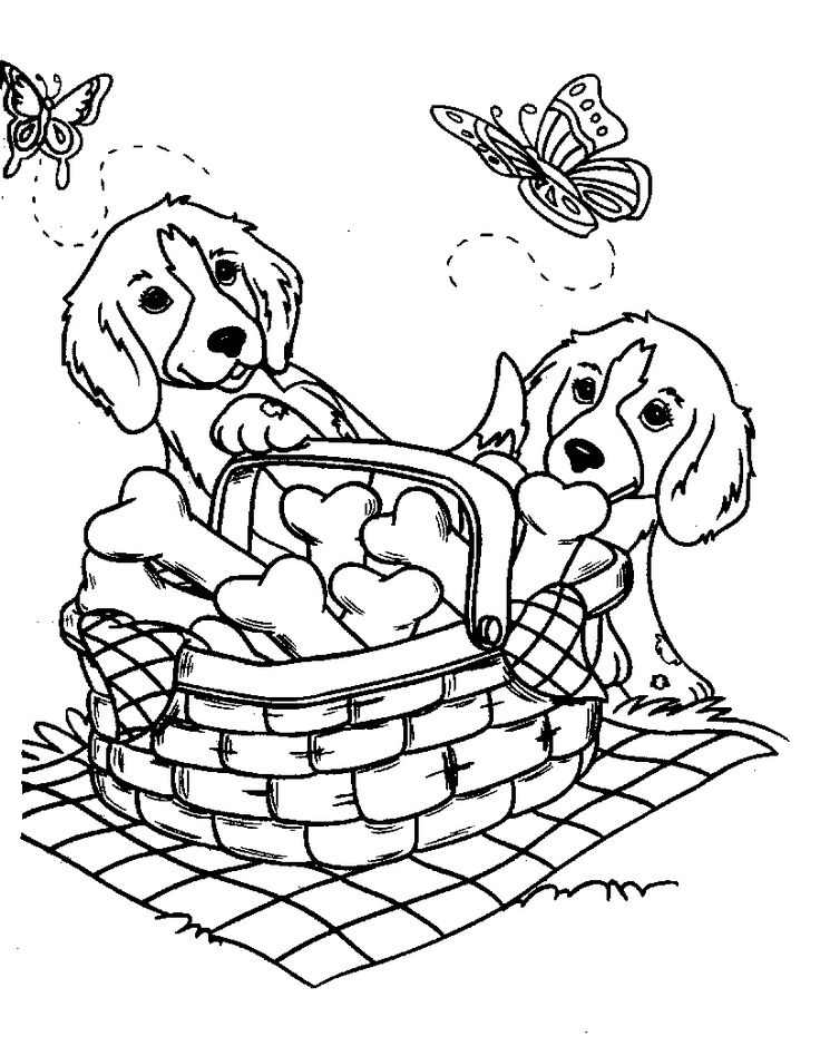 Amazing Dog Coloring Pages For Girls And Boys