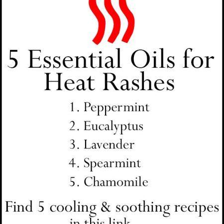 5 Essential Oils for Heat Rash including 5 Recipes for Quick Relief