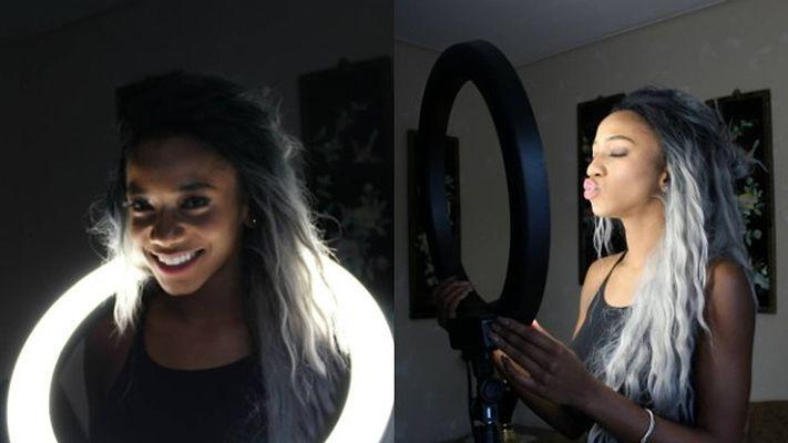14 Inch Ring Light With Light 1 Piece Light Lights Mirror Selfie