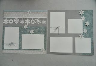 Jan layout created by Miss Paper Me Pretty - Winter Artbooking Layout