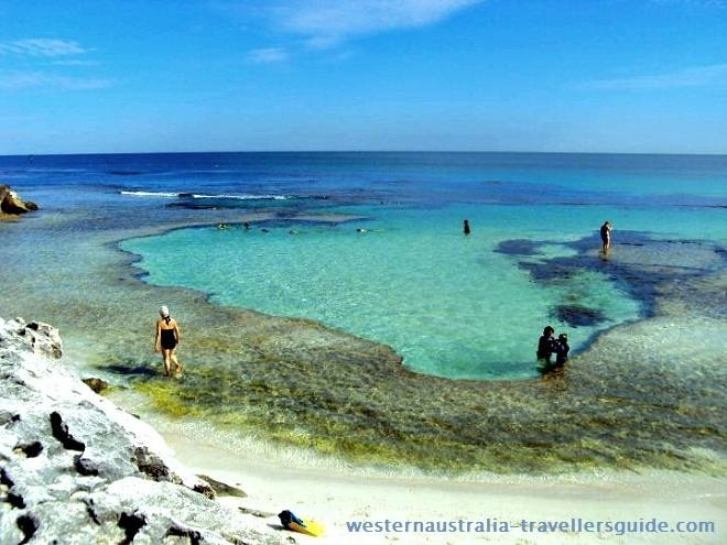Top 10 West Australian Beaches - #6 - The Basin at Rottnest Island, a natural swimming pool cut into the reef.  www.westernaustralia-travellersguide.com/the-basin-rottnest.html