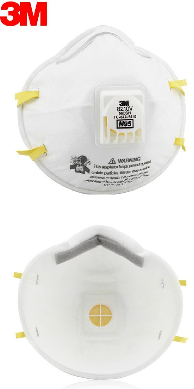 [Visit to Buy] 3M 8210V Respirator Mask Coolflow Valve Particles Respirator Mask PM2.5 Dust Mask N95 Respiratory Protection LT049 #Advertisement