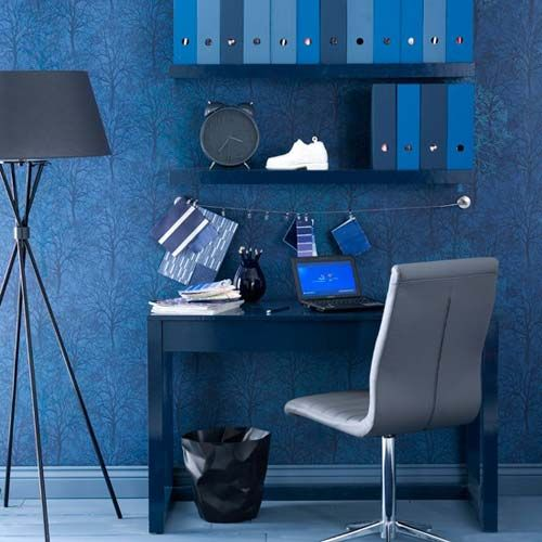 lively blue home office
