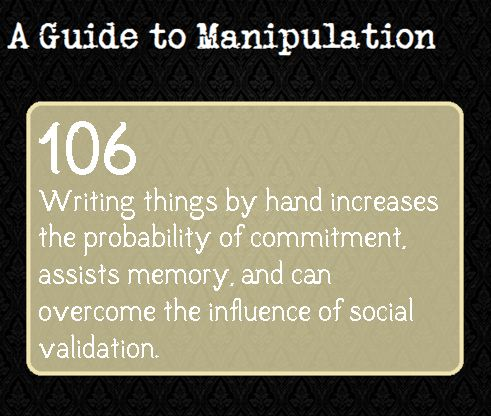 A Guide To Manipulation — Gotta love handwritten contracts. JM