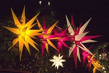 Moravian stars.  Obsessed with these since I saw them in a restaurant.  NEED for our new home!
