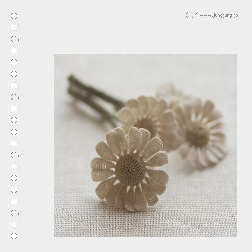 jungjung does fabulous crochet work with very fine thread and size 16 (0.4 mm) crochet hook