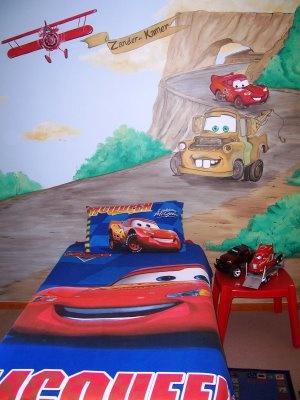 cars lightning mcqueen room kids mural