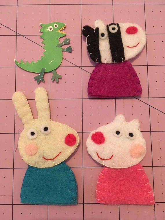 This Peppa Pig Inspired Friends Finger Puppets Listing Is Sold As A