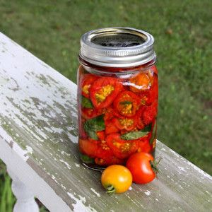 Foy Update suggests storing your sun-dried tomatoes in a jar of olive oil along with some basil.