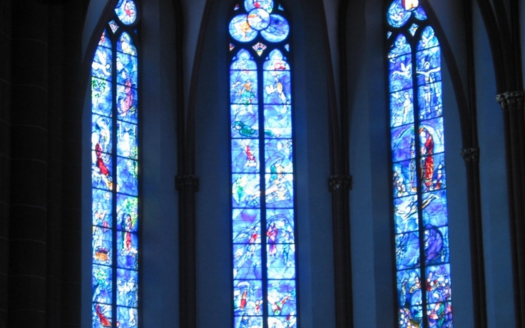 Mainz Cathedral, Germany: windows by Marc Chagall.