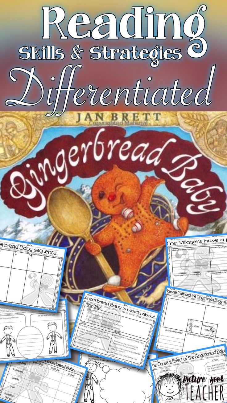If you are looking for a way to extend your read-aloud this holiday check out this book companion for the book Gingerbread Baby by Jan Brett.
