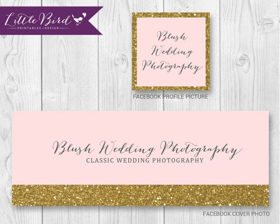 Gold and pink personalized branding set for your Facebook business page!