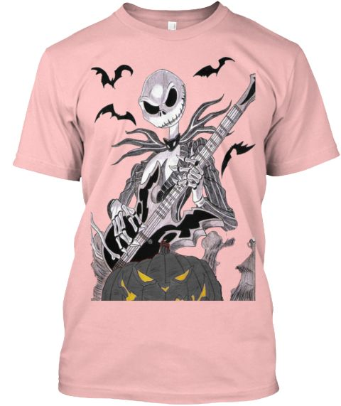 Have A Rockin Halloween Pale Pink T-Shirt Front