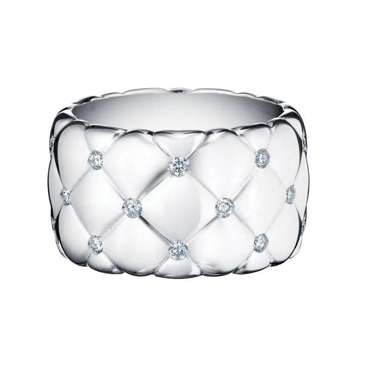 Fabergé Treillage White Gold Wide Diamond Ring #Fabergé #Treillage #diamond…