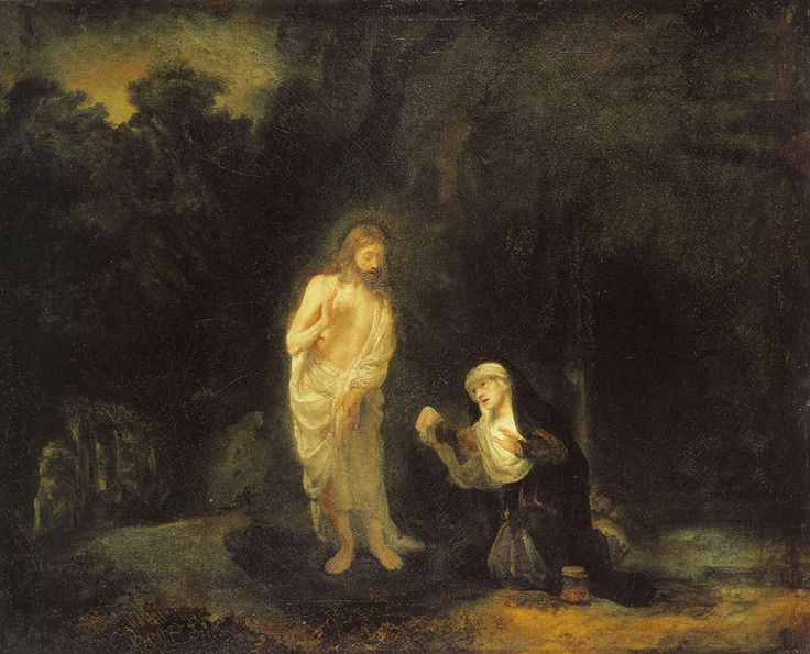 Rembrandt - Christ Appearing to Mary Magdalene, 'Noli me tangere'.  1650 or slightly later