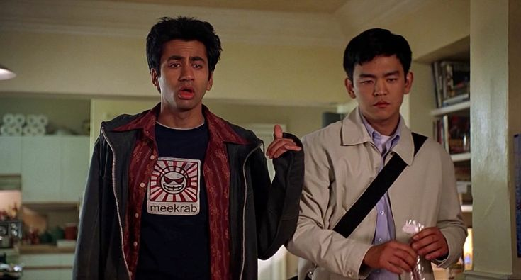 Kumar wears this Meekrab shirt through, pretty much the entirety, of the first HK movie; Harold & Kumar Go to White Castle....