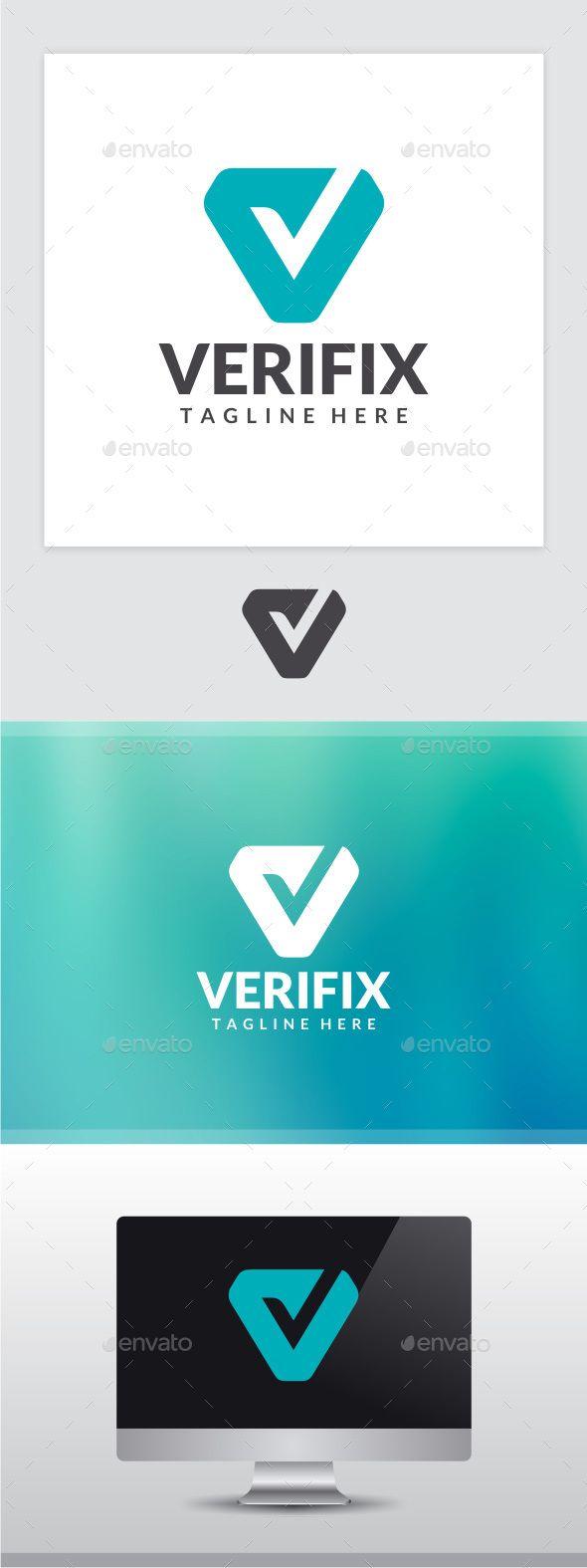 Verifix Letter V Logo — Photoshop PSD #app #V letter • Available here → https://graphicriver.net/item/verifix-letter-v-logo/13919409?ref=pxcr