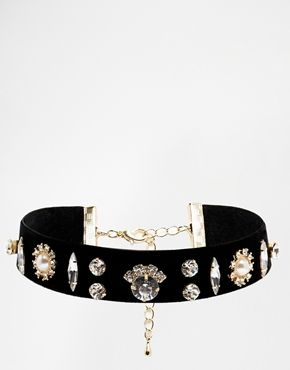 Limited Edition Velvet Stone Choker Necklace