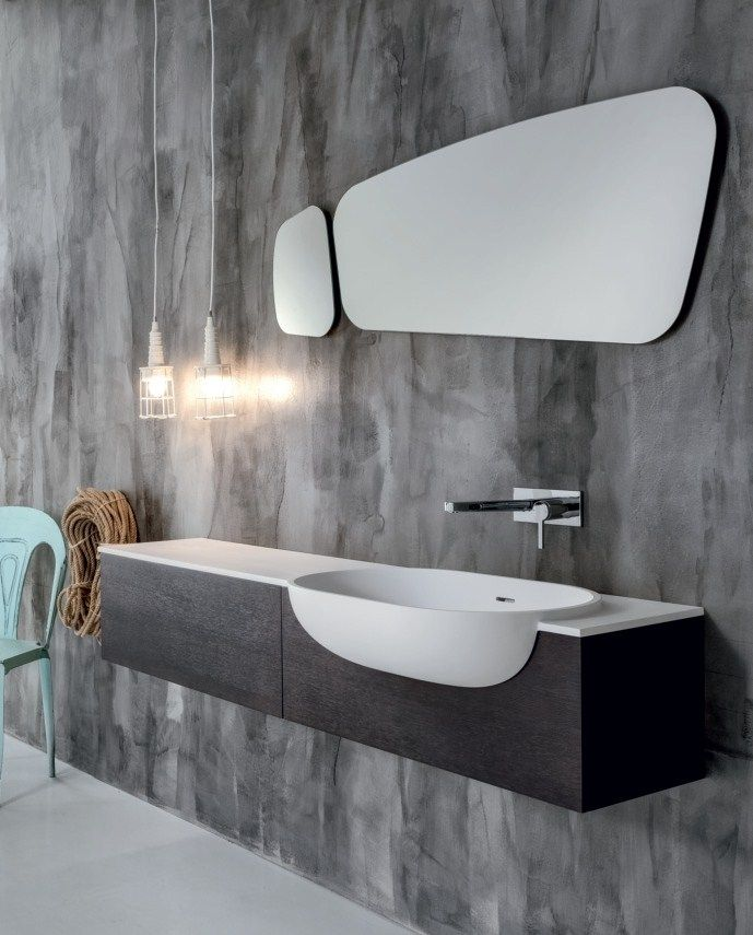 Wall-mounted wooden vanity unit with drawers VIA VENETO by FALPER @falperdesign
