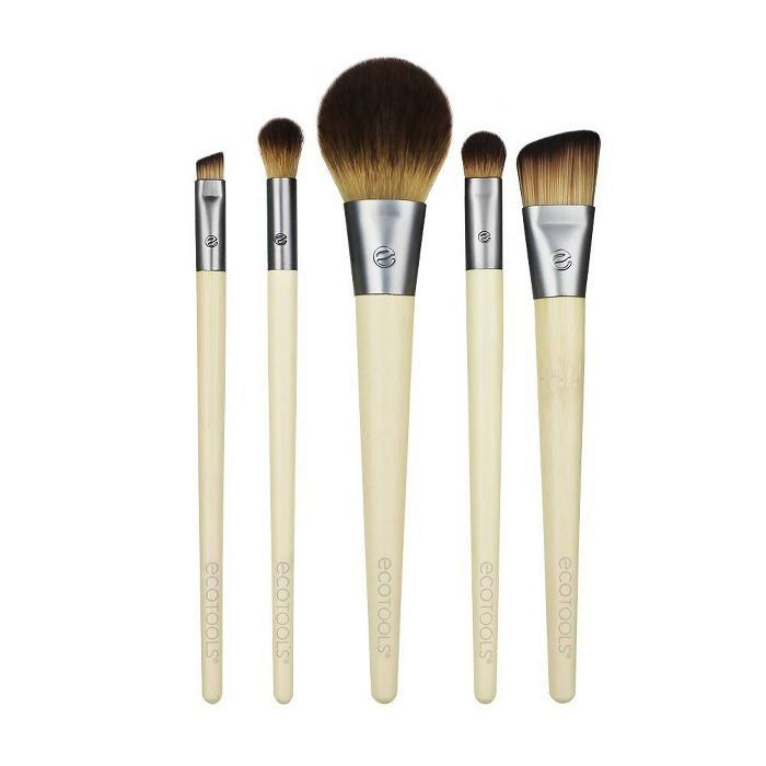 Ecotools Start The Day Beautifully Kit 5pc Brush Kit 1000 In 2020 Beauty Products Drugstore Makeup Brush Set Professional Essential Makeup Brushes