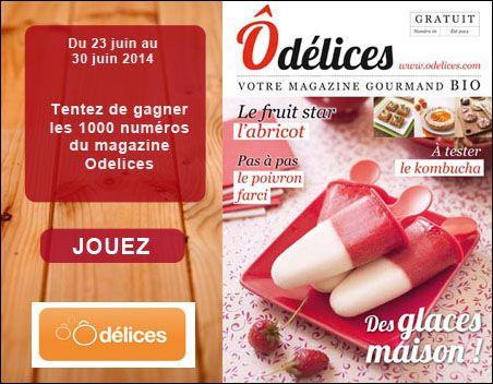 Jeu concours : gagnez 1000 magazines Odelices n°16 Eté 2014 - Ôdélices