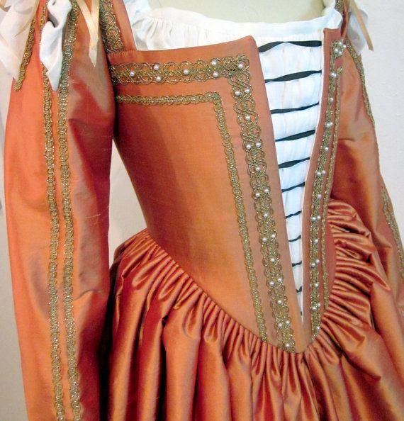 italian Renaissance dress | RESERVED Venetian Gown Renaissance Dress in Silk, 1560's Italian with ...