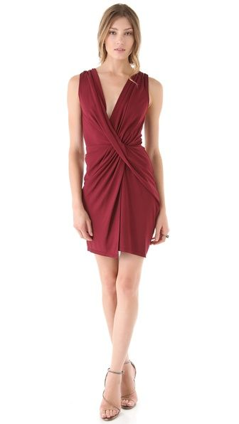 OMG THIS IS YOUR PERFECT PARTY DRESS!  Oxblood is the hot new color for fall too ya know. Haute Hippie Crisscross Dress