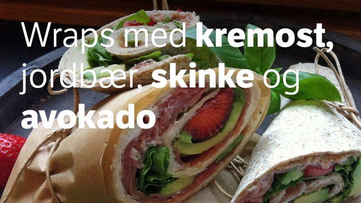 Mat som kan spises med én hånd kan være praktisk både på tur og i selskapslivet. Lise Finckenhagen har oppskriften på lekre wraps med spekeskinke, avokado og jordbær.