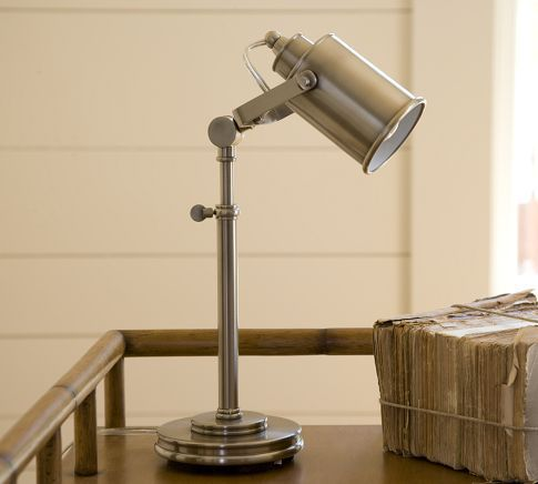 Photographer's Task Table Lamp, Pewter