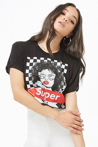 8e9408d79 Super Cropped Graphic Tee   Products in 2019   Fashion, Graphic tees ...