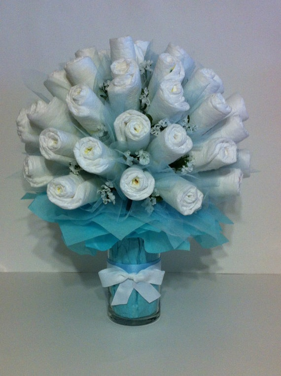 Pamper Me With A Diaper Bouquet by BebeBlissbabygifts on Etsy, $44.99