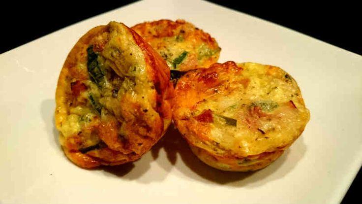 Ett LCHF-recept på matiga muffins med rökt skinka och purjolök. Helt perfekta att ta med som fika eller att äta till frukost. Bra om du äter strikt LCHF.