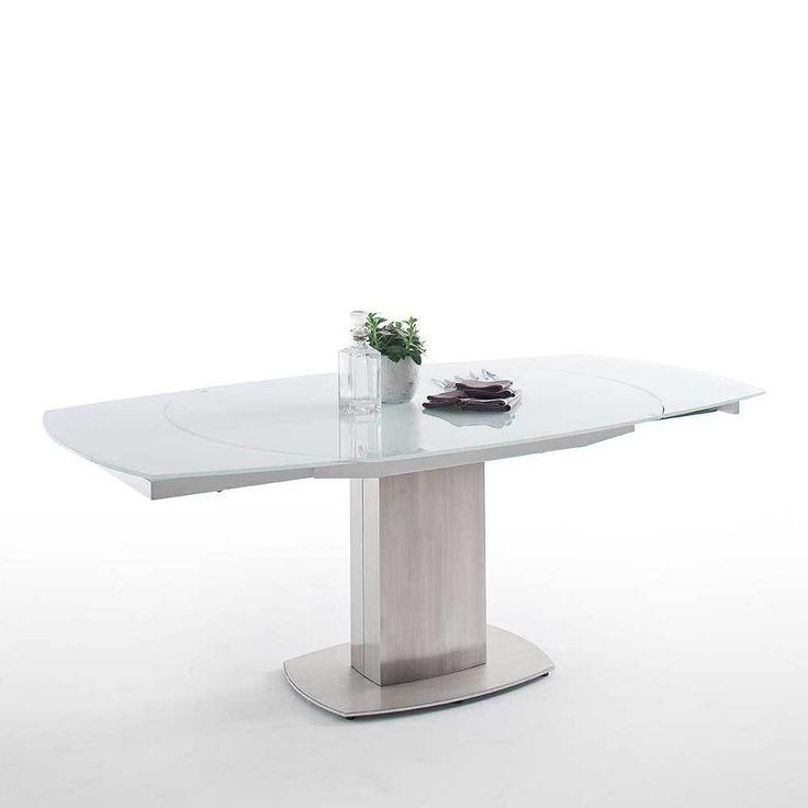 Esszimmertisch Mit Glasplatte Weiß In Bootsform Jetzt Bestellen Unter: ...
