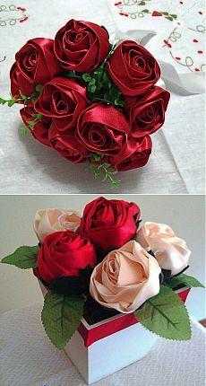 Розы из ткани. Идеи и мастер-класс.
