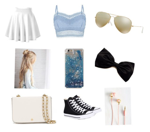 """""""Chilling"""" by fabbelfashion11 ❤ liked on Polyvore featuring Lipsy, Converse, Tory Burch and Ray-Ban"""