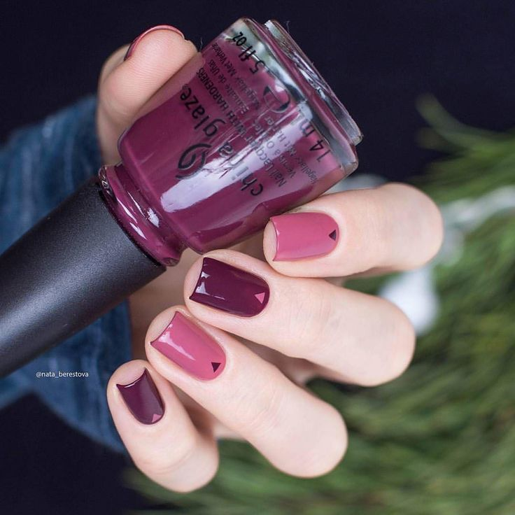 "5,188 Likes, 22 Comments - @chinaglazeofficial on Instagram: ""@nata_berestova designed a stylish fall/winter mani using VII & Fifth Avenue."""