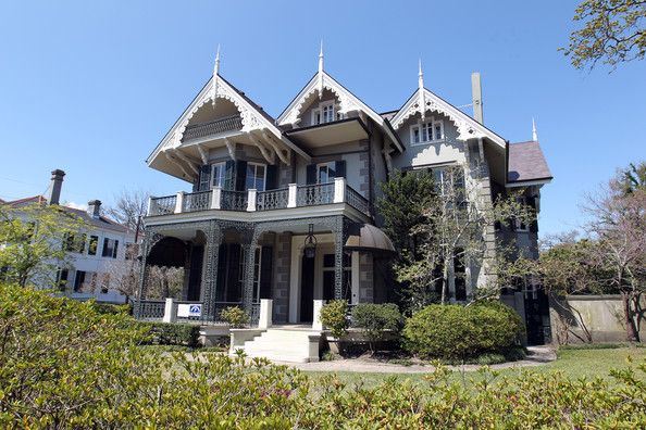 Sandra Bullock's Gothic Victorian house she owns in New Orleans.  I think Sandra is SO cool!